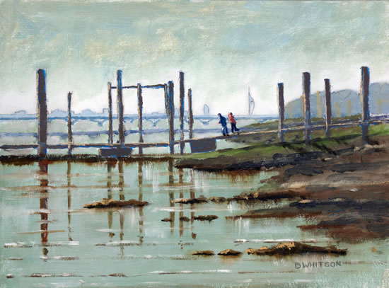 Pontoon - Hardway Sailing Club Portsmouth Harbour - Fareham Art Group Artist David Whitson