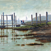 Pontoon – Hardway Sailing Club Portsmouth Harbour – Fareham Art Group member David Whitson