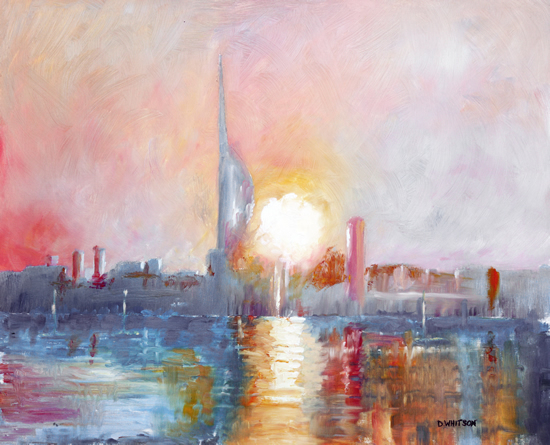 Portsmouth Harbour - Dawn -Gosport Hampshire Artist David Whitson