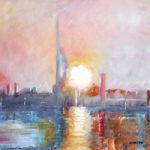 Portsmouth Harbour Spinnaker Tower – Dawn – Gosport Hampshire Artist David Whitson