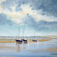 Portsmouth Harbour Towards Portchester – Art Prints – Gosport Seascape Artist David Whitson
