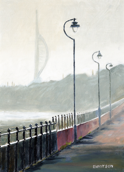 Portsmouth Harbour - Winter Morning - Gosport Art Group Artist David Whitson