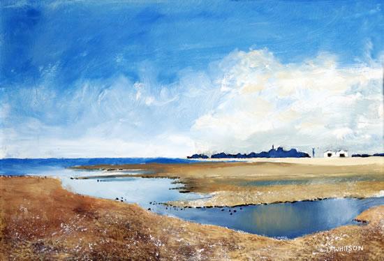 River Alver Stokes Bay - Oil Landscape - Gosport Artist David Whitson