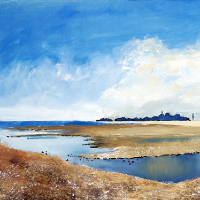 River Alver Stokes Bay – Oil Landscape – Gosport Artist David Whitson