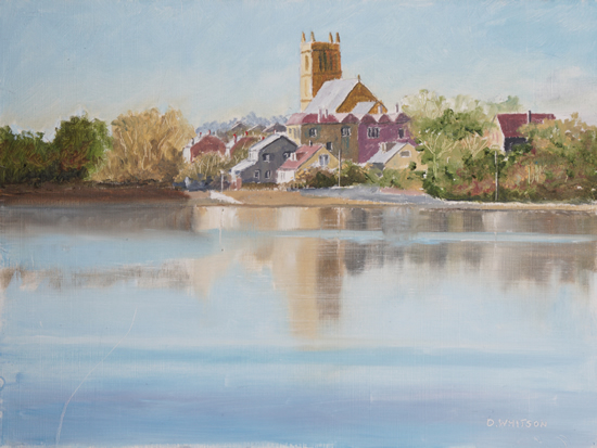 St Mary's Church from Stoke Lake - Limited Edition Prints - Gosport Artist David Whitson