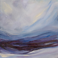 Abstract Painting – North Yorkshire Moors – Yearning – Contemporary Artist Lesley Stevens