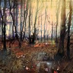 New Forest at Dawn Landscape Painting- Hampshire Gallery – Fine Art Giclee Prints