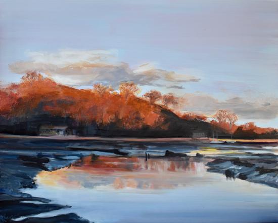 River Hamble Country Park - Landscape Painting - Warsash Hampshire Artist Lesley Stevens