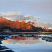 River Hamble Country Park – Landscape Painting – Warsash Hampshire Artist Lesley Stevens