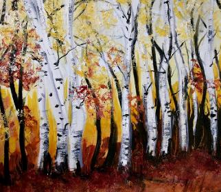 Silver Birch - Tree Painting - Artist in Oils, Lesley Stevens