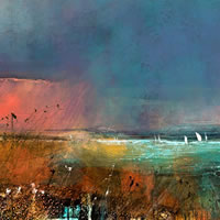 The Solent – Evening Sea View with Sailing Boats – Hampshire Gallery – Fine Art Prints