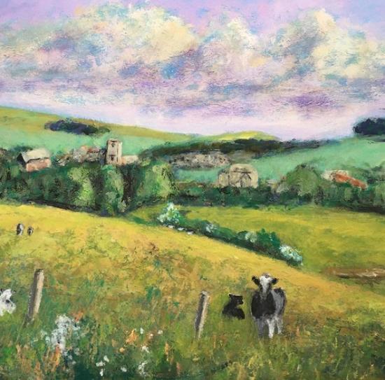 Abbotsbury - Dorset Village - English Landscape Artist Chris Cotes