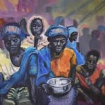 African Women – Silver Bowl Painting – Warsash Southampton Art Gallery