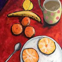 Breakfast Table Still Life Artwork – Breakfast Table Still Life Artwork – Weymouth Dorset Artist Chris CotesArtist Chris Cotes