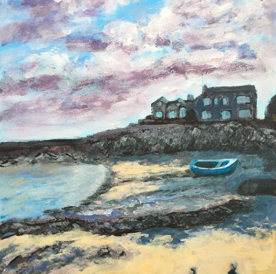 Craster Harbour Northumberland - Landscapes and Seascapes - Weymouth Artist Chris Cotes