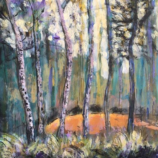 Puddletown Dorset Woodland - Forest Landscape - Weymouth Artist Chris Cotes