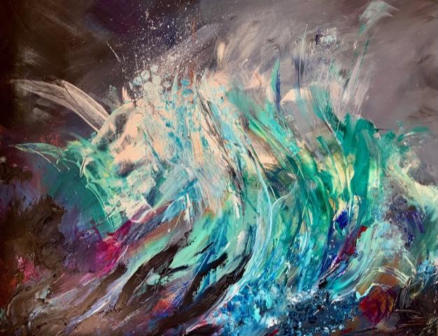 Wave 2 Painting - Warsash Southampton Hampshire Art Gallery