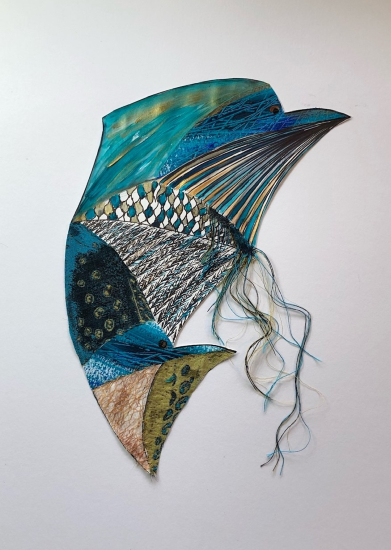 Abstract Dolphin - Froxfield Petersfield Hampshire Artist Eileen Riddiford