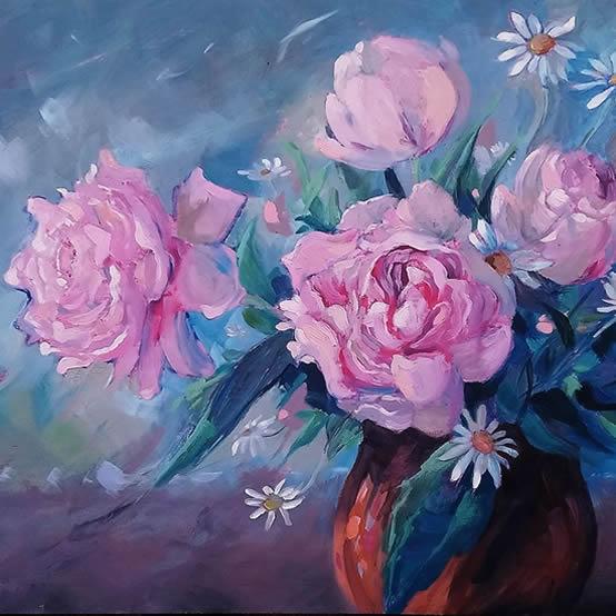 Daisies - Petersfield Arts and Crafts Society - Artist Sarah Cox