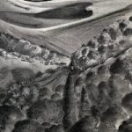 Hampshire and Sussex Downs – Charcoal Landscape Painting – Petersfield Arts and Crafts Society member Eileen Riddiford