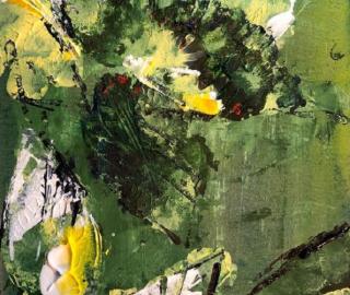 Leaves - Abstract Art - Froxfield Artist Eileen Riddiford