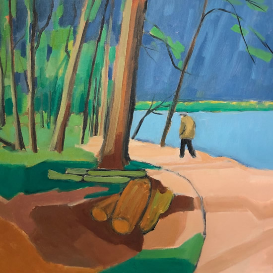 Maarja Reiman Petersfield Lake Painting