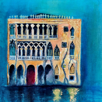 Venice Italy Palazzi Ca d'oro - Petersfield Artist Eileen Riddiford