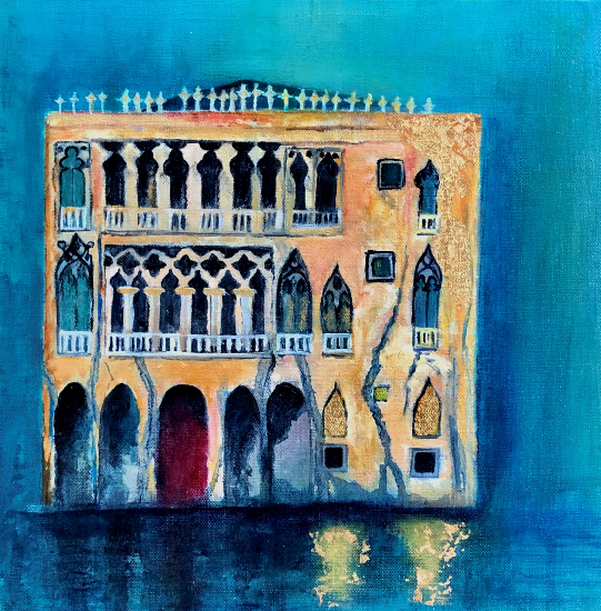 Venice Palazzi Italy - Ca d'oro - Petersfield Arts and Crafts Society member Eileen Riddiford