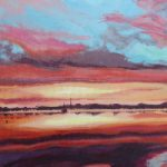 Bosham West Sussex Sunset – Petersfield Arts and Crafts Society member Alison Udall