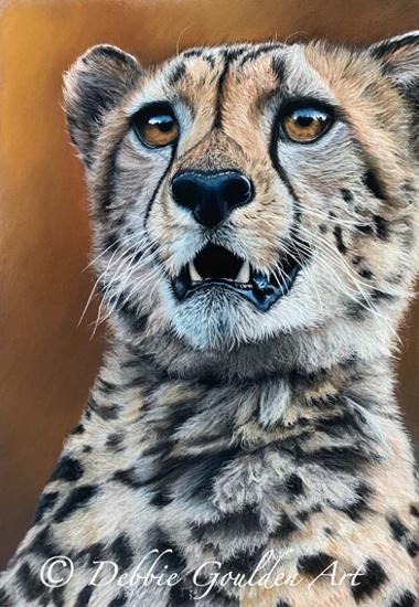 Cheetah - Pastel Art - Romsey Hampshire Wildlife Artist Debbie Goulden